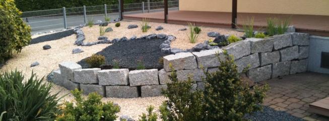 Gartengestaltung mit Granitsteinen